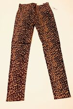 OLD NAVY GIRL ROCKSTAR JEGGINGS ANIMAL PRINT SIZE 8 REGULAR ADJUSTABLE WAIST