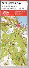 Jervis Bay NSW  9027 1:100,000  topographic map New free priority post Australia