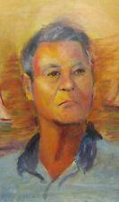 Old vintage artist signed portrait painting Commodore Howard Vanderbilt