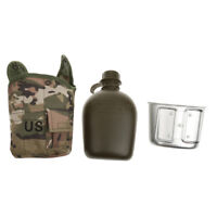 3 piece Tactical Military Camouflage Camping Water Bottle Bag Canteen Cup