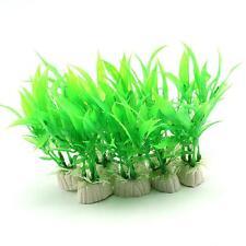 10 Piece Green Plastic Aquarium Tank Plants Grass Decoration TMPG YC