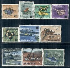 """JAMAICA 279-88 SG280-89 Used 1969 Defin short set of 10/13 Ovpt """"C Day"""" Cat$5"""