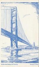 San Francisco Ca * Golden Gate Bridge 1930s * George C. Ashley Illustration