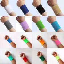 2Pcs Unisex Basketball Sports Cotton Sweat Band Sweatband Wristband Wrist Band