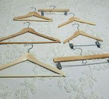 Sample Lot Wood Hangers Ebay Listings Kids Adults Pants Shirts
