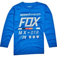 Fox Racing Youth Drafter Long Sleeve Tee Blue MX ATV Off Road Motocross SX