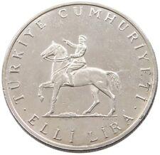 TURKEY 50 LIRA 1972 #alb45 277