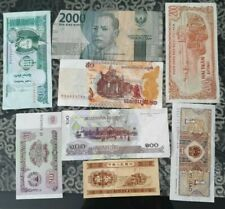 Nice old 8 Bank Note Currency Money No Reserve lot bundle mix world collector c5
