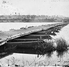 Pontoon bridge over the James River Jones Landing, VA  - 8x10 US Civil War Photo