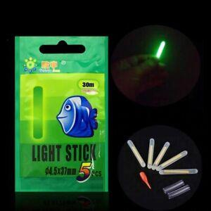 5PCs Fishing Float Light Stick Fluorescent Night Rod Dark Glow Tackle Floating