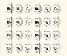 1971 STRIKE MAIL GLASGOW AREA 10p PROOF SHEET COMMEMORATIVES SHEET OF 24 MNH