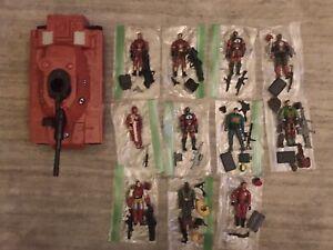 G.I. Joe Lot Cobra Crimson MOBAT CLAWS Spy Troops Agent Faces 12 Figures 1/18