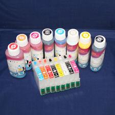 REFILLABLE INK CARTRIDGE SET FOR Epson Stylus Photo R2000 PRINTER