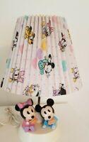 Vintage1984 Walt Disney Baby Mickey Minnie Mouse Lamp+ Nite Light w/ shade Works