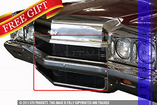 GTG 1972 Chevy Impala 2PC Gloss Black Replacement Billet Grille Grill Kit
