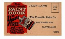 Cleveland, OH Franklin Paint Co. Free Paint Book, Advertising Vintage Postcard