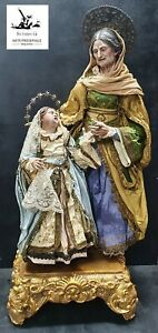 Sant'Anna arte madonna krippen statua sacre santi