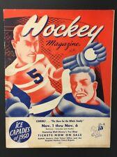 1949 Buffalo Auditorium Exhibition Game Program Montreal Canadiens Vs Bisons