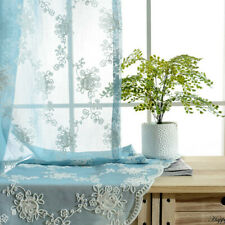 Embroidery Farbic For Curtains Pelmets Lace Voile Tulle Window Drape Sheer