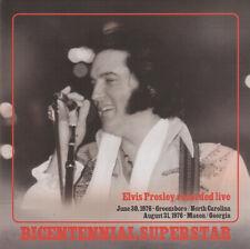 RARE Elvis Double CD  'Bicentennial Superstar' Greensboro and Macon shows 1976