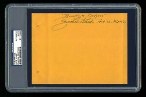 ZACH WHEAT SIGNED FULL ALBUM PAGE PSA/DNA AUTOGRAPHED HOF BROOKLYN DODGERS
