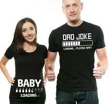 Pregnancy Funny Couple T-shirts Baby Loading Dad Joke Maternity Matching Shirts