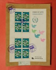 New ListingDr Who 1986 Korea Full Sheet Used Parcel Piece Lc218152