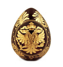 """Collectible Russian Crystal Egg Double Headed Eagle Catherine The Great Wow 4"""""""