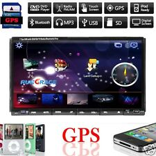 4G Map+GPS Navigation Double 2 DIN Car Stereo DVD Player Bluetooth iPod Radio TV