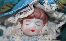 Beautiful Vintage Bisque Doll Head Hanging Ornament