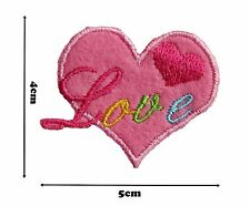 Love Heart Iron or Sew Embroidered Patch Badge Patches Logo Fancy Badges #346