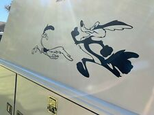 Camper RV Truck Set of Decals Vinyl Stickers Roadrunner and wolf removable, Gift