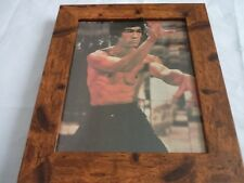 Bruce lee scrapbook rare photos Framed 10by8 mounted wood frame classic scene 7