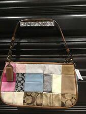 new coach  patchwork tie dye demi handbag
