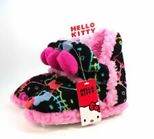 NWT Girls Hello Kitty Sherpa-Lined Booties Slippers Size 11/12