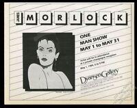 1984 James Morelock painting NYC art gallery show vintage print ad