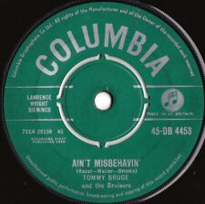 Tommy Bruce & Bruisers ORIG UK 45 Ain't Misbehavin VG+ '60 Columbia Rock N roll