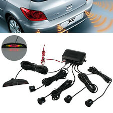 4 Sensors Car Parking Reverse Backup Rear Buzzer Radar System Kit Alarm Black