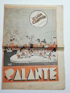 Palante settimanale umoristico cubano due numeri 9-1988 10-1989 Illustrati