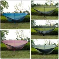 Portable Outdoor Camping Hiking Mesh Mosquito Net for Double Hammock Hanging Bed