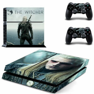 PS4 Skin Sticker Vinyl Decal 3 for Console & 2 Controllers The Witcher Netflix