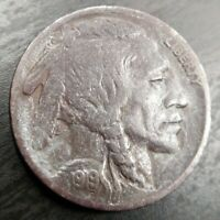 1919 D Buffalo Nickel Very Fine VF or Extremely Fine XF EF key Date Dark Surface