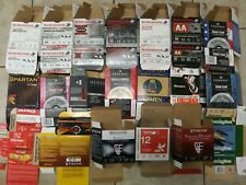 20 different empty shotgun shell boxes