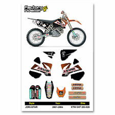 2001-2004 KTM SXF 250-525 Dirt Bike Graphics kit Motocross Graphics Decal