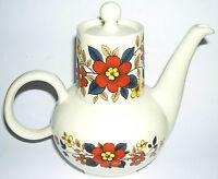 J & G Meakin Ironstone Tea / Coffee pot (large 23cm tall) RARE.