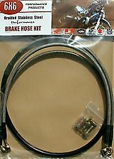 Front & Rear Brake Hose Kit Yamaha YZ125 / YZ250 1990 to 1995