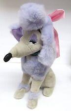 """Disney Georgette Stuffed Poodle Plush 1988 Oliver & Co 13.5"""" Vintage"""