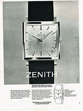 PUBLICITE ADVERTISING 034   1963   ZENITH   collection montre automatique
