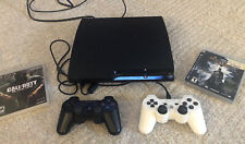 Sony Playstation 3 PS3 Slim CECH-3001A 160GB Console, 2 Controller TESTED 4 Game