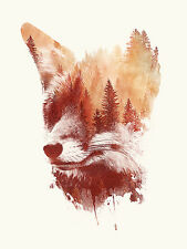 BLIND FOX ART PRINT BY ROBERT FARKAS fantasy strange hidden images forest poster